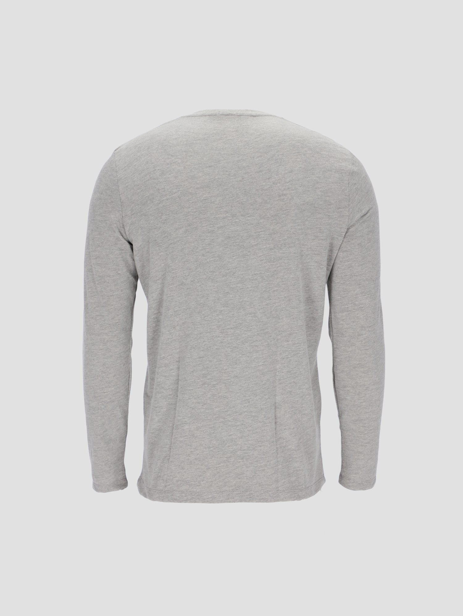 Men's Long Sleeve T-shirt with V Neck