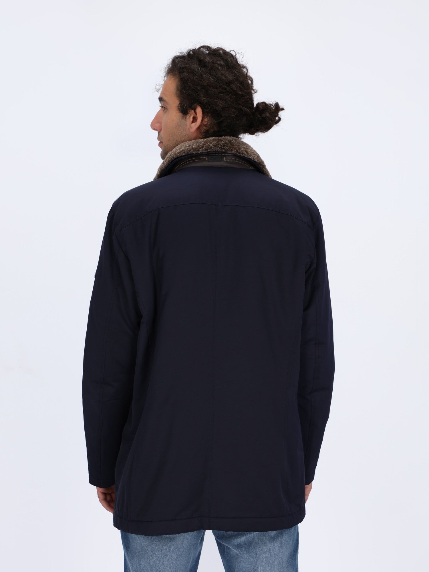Stand-Up Collar with Fur Field Jacket