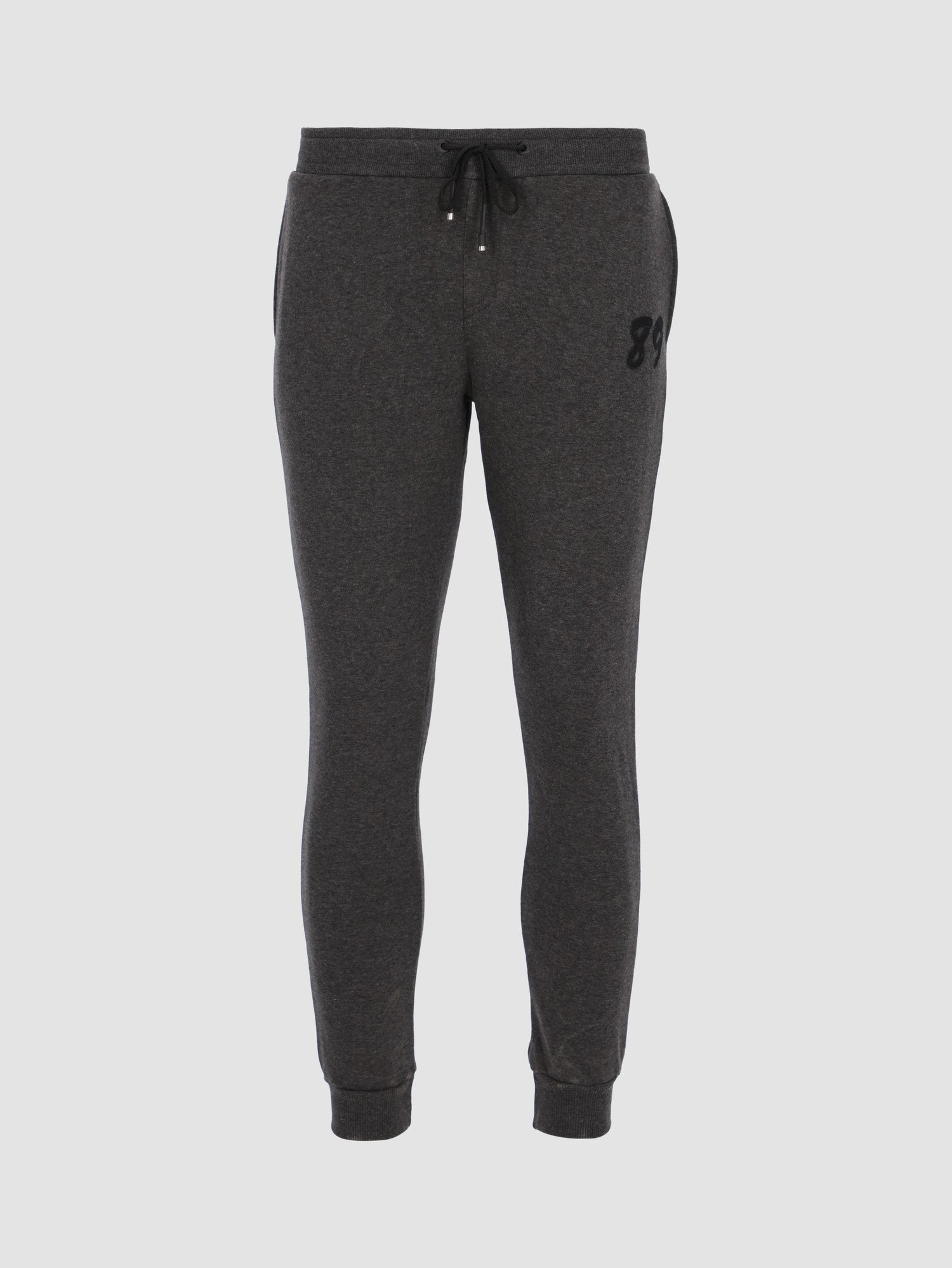 Men's Basic Sweatpants with Printed Patch 89