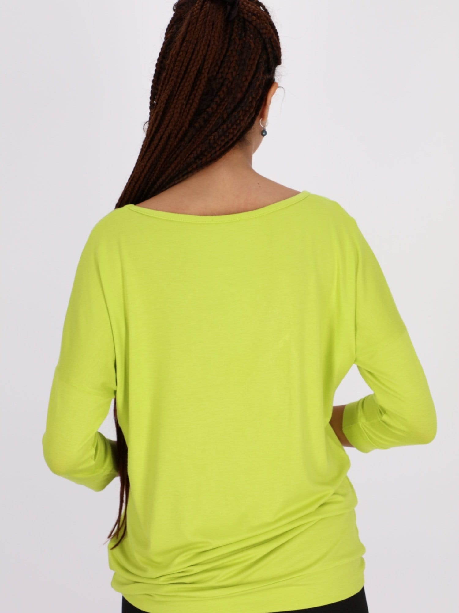 OR Tops & Blouses Front Text Print 3/4 Cuff Sleeve Top