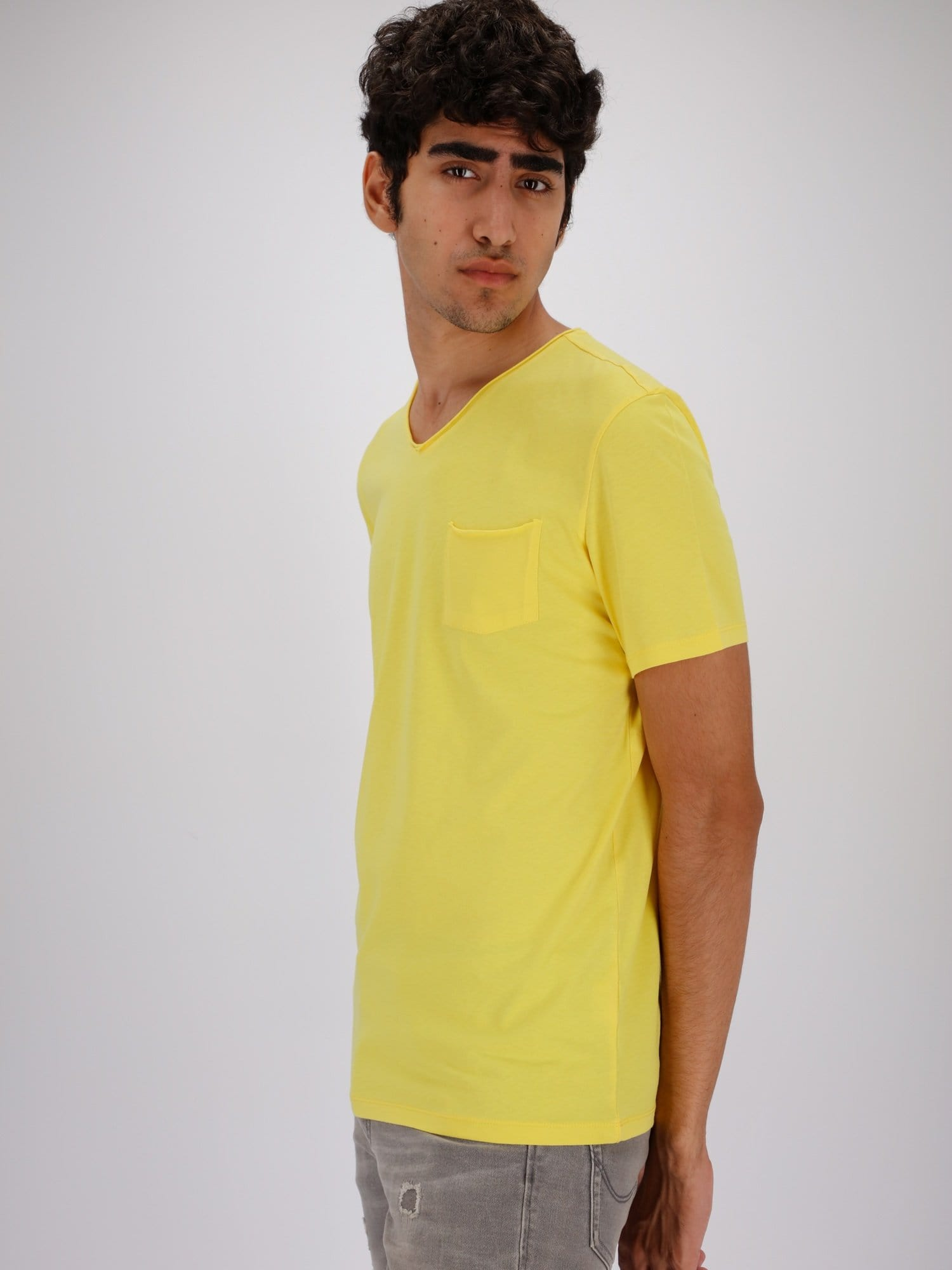 OR T-Shirts Chest Pocket V-Neck Solid T-Shirt