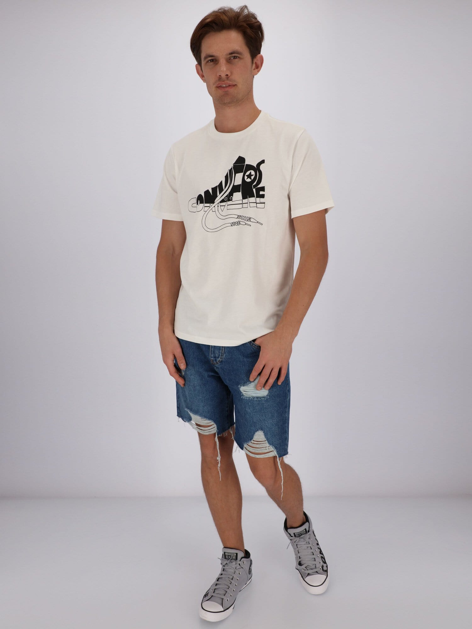 Converse T-Shirts Chuck Wordmark Graphic Short Sleeves Men T-shirt
