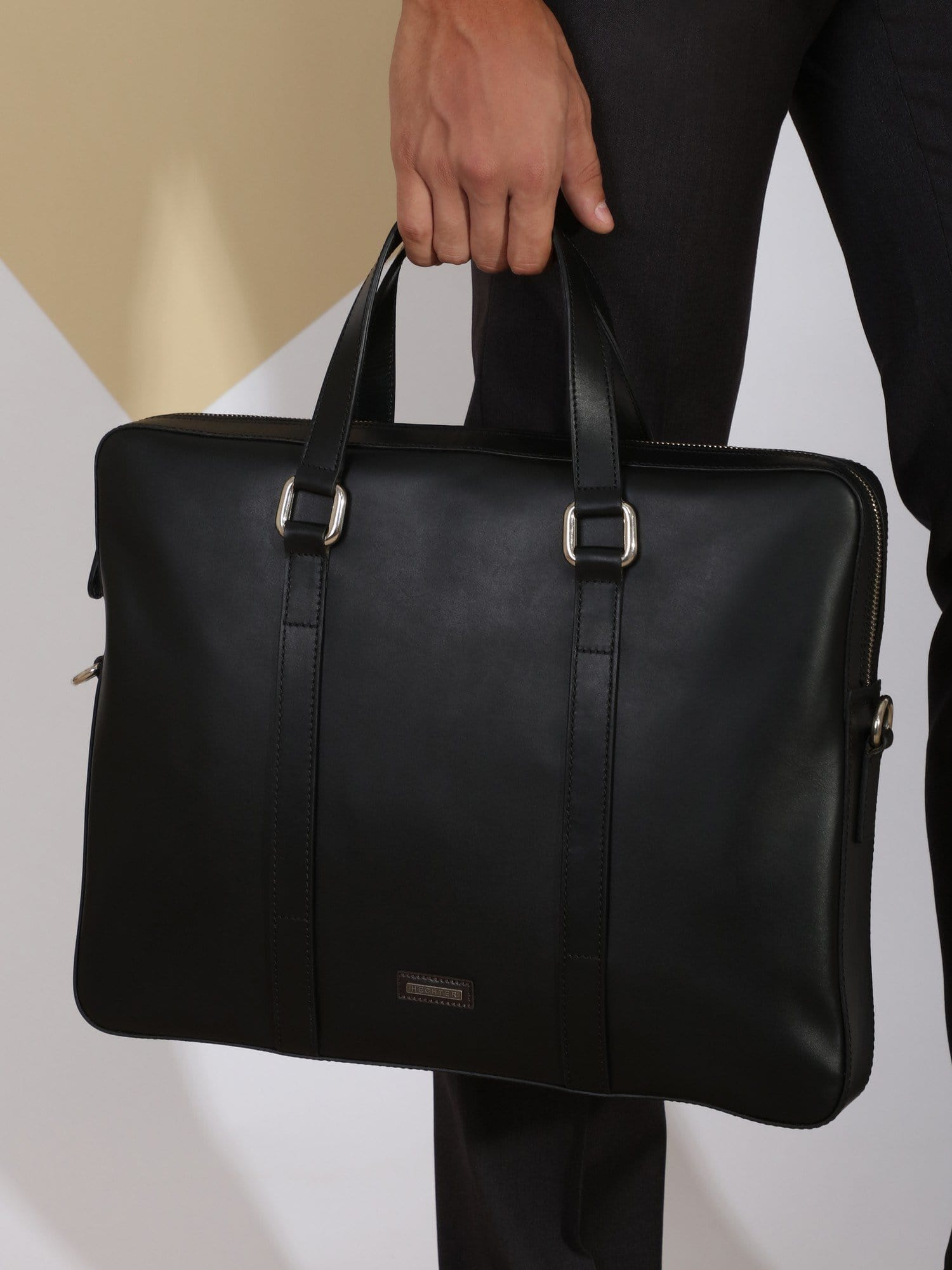 Daniel Hechter Other Accessories Black / Os Modern Leather Briefcase