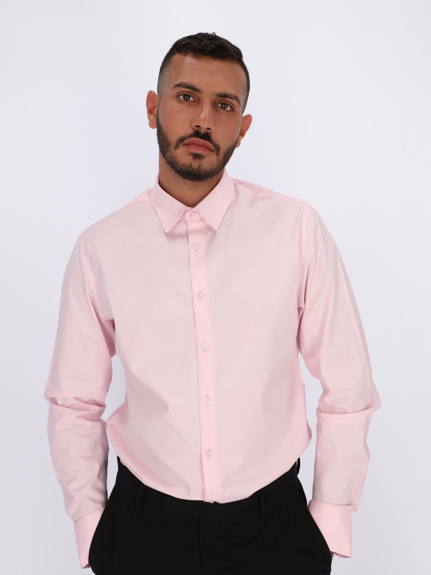 Daniel Hechter Shirts Light Pink / 39 Basic Shirt with Long Sleeves