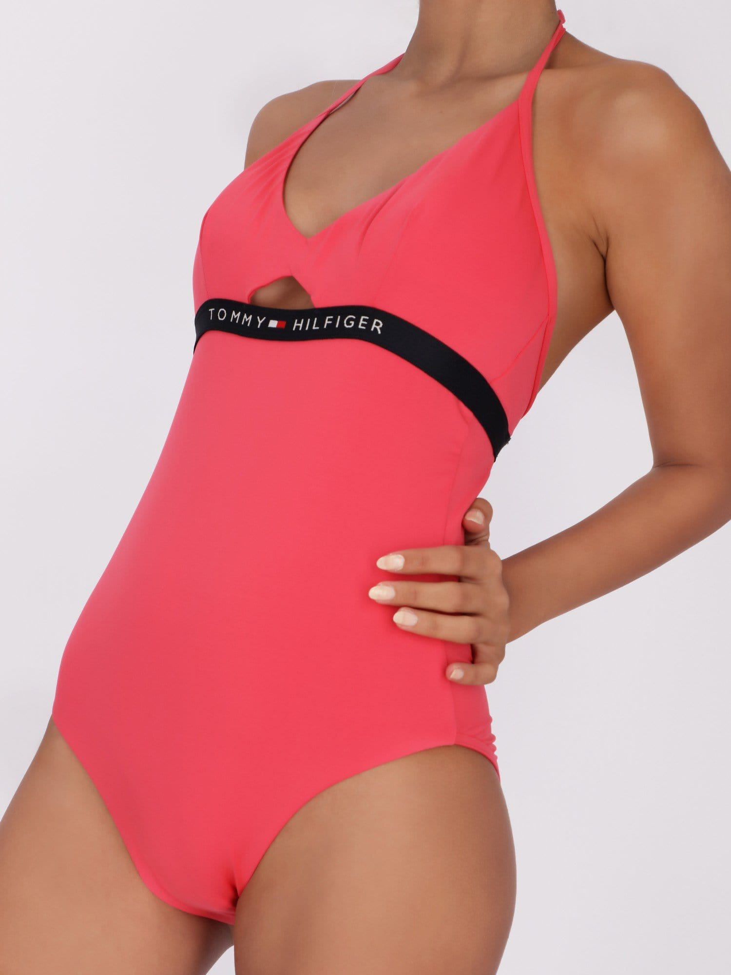 Tommy Hilfiger Swimwear Triangle Cut-out One Piece Swimsuit