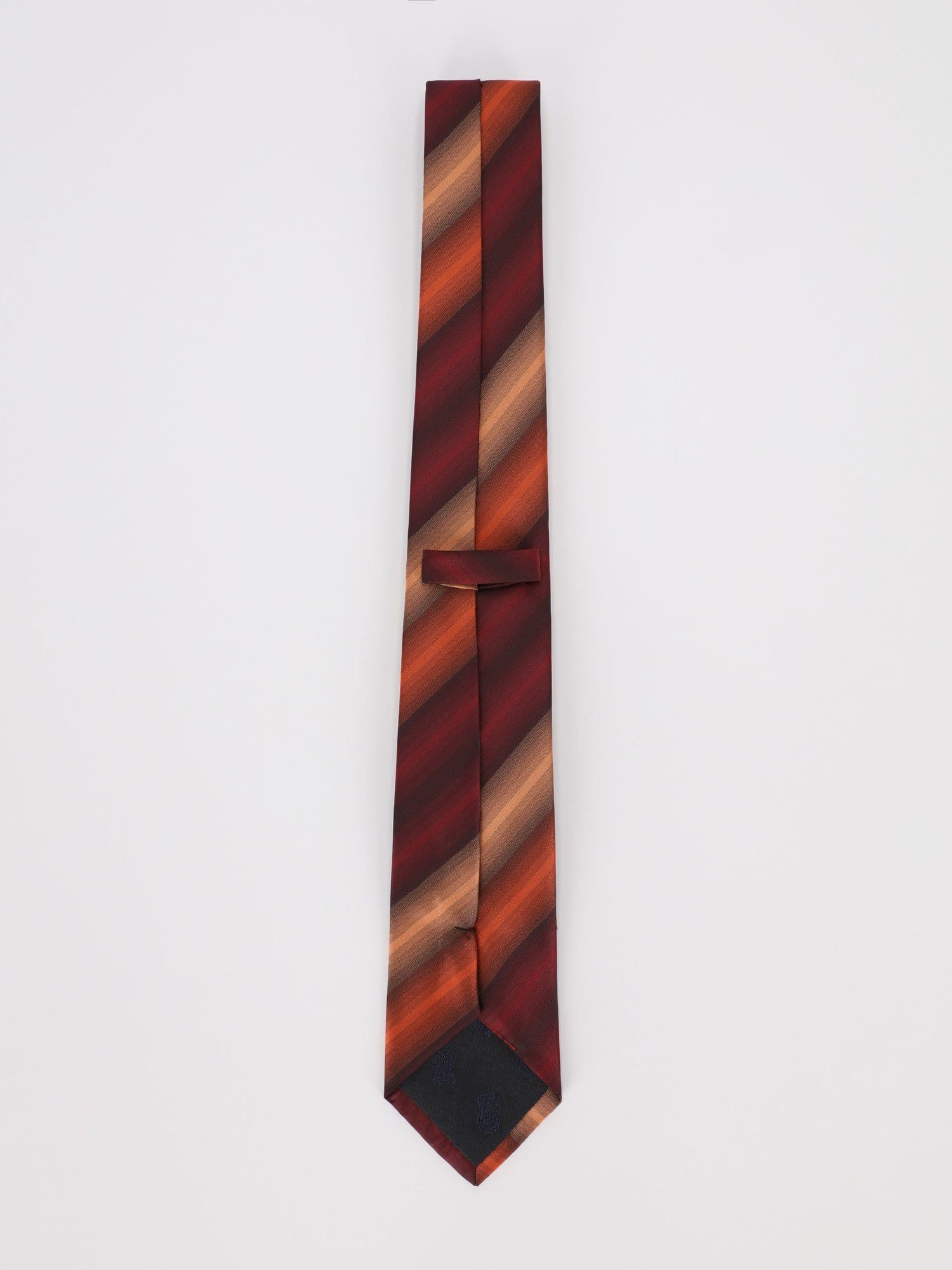 Daniel Hechter Other Accessories Black / Os Slim Necktie with Diagonal Stripes