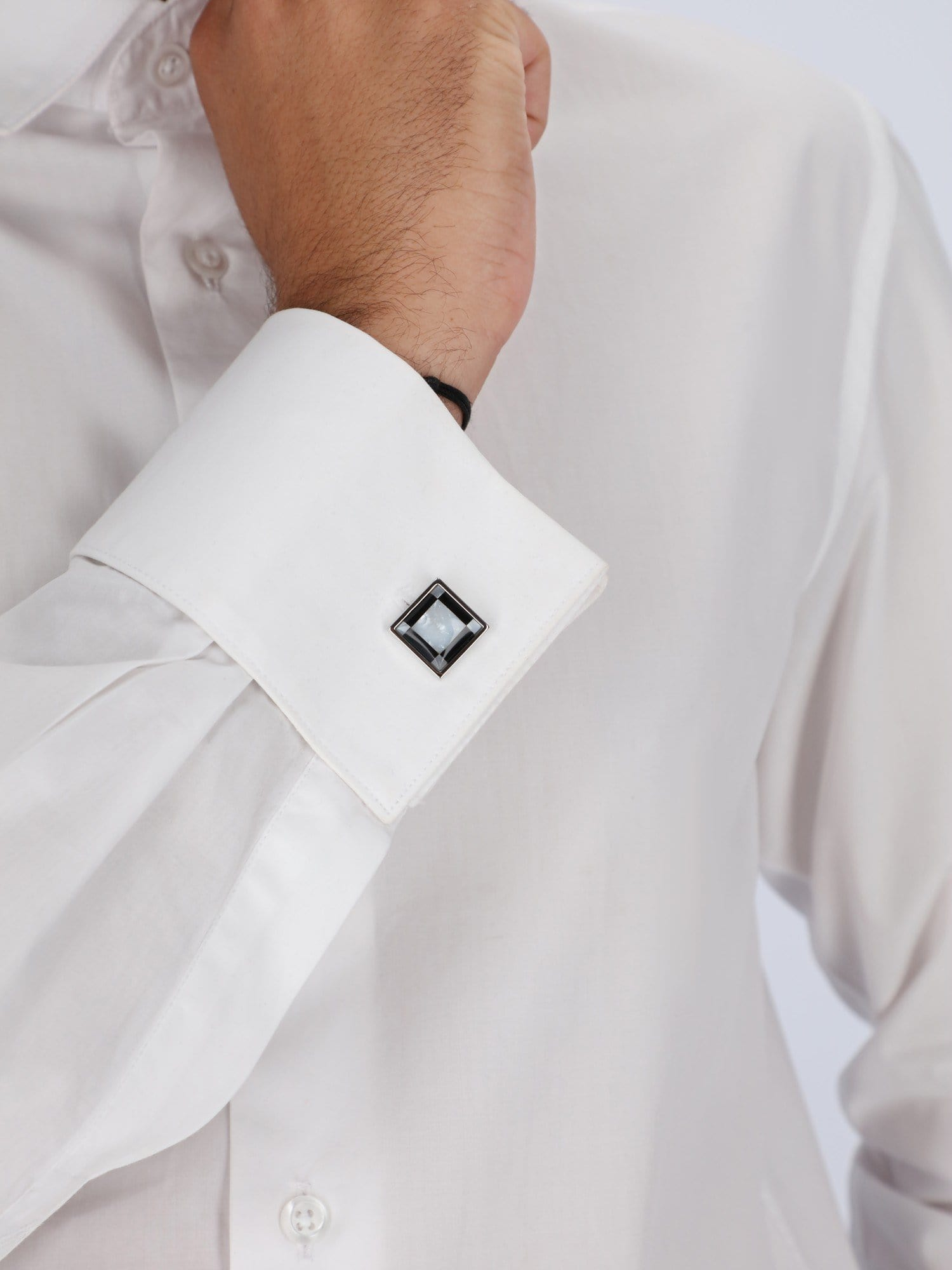 Daniel Hechter Other Accessories Black / Os Black & White Check Square Cufflinks