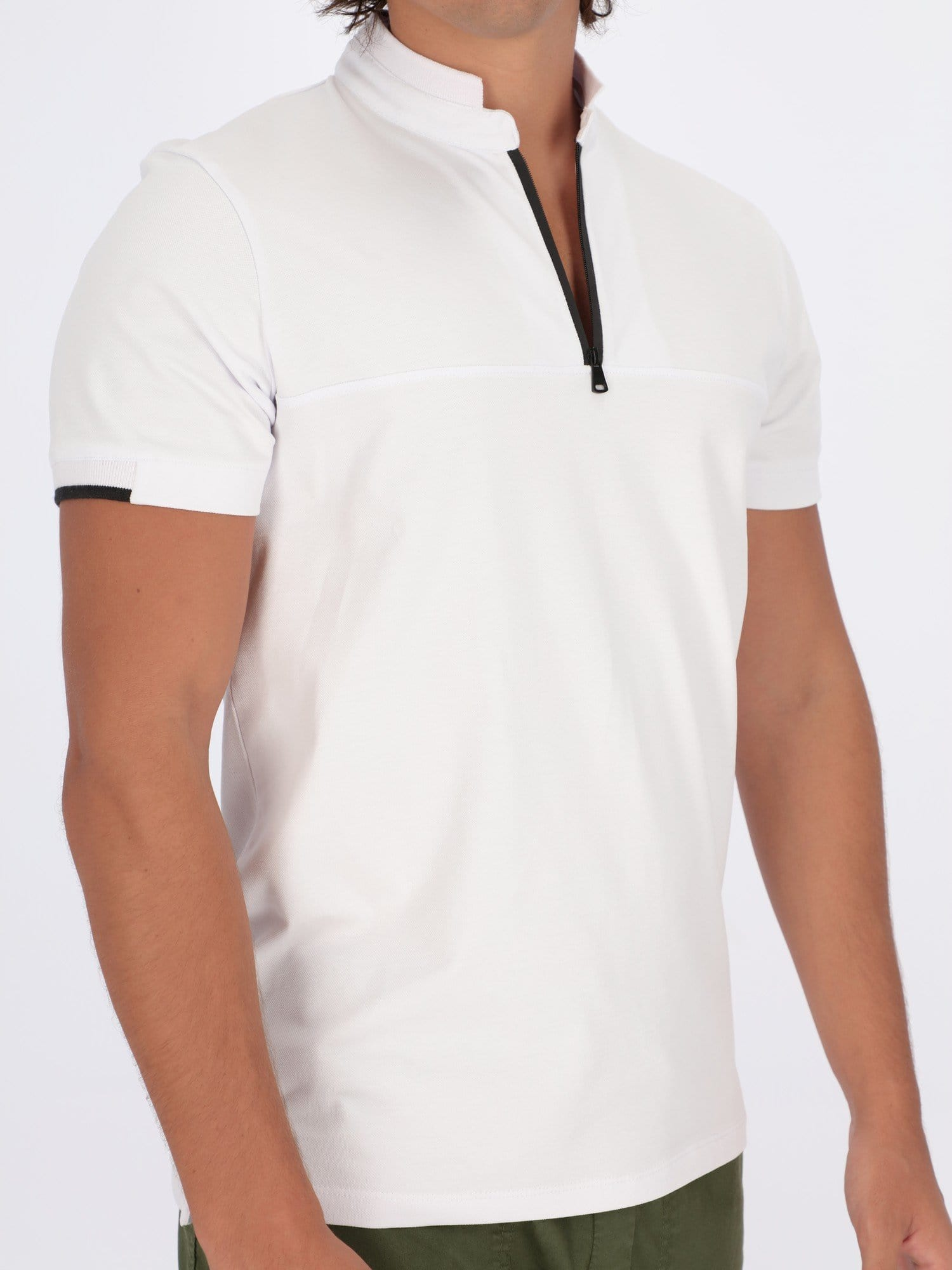 OR Polos Zip Grandad Collar Polo Shirt