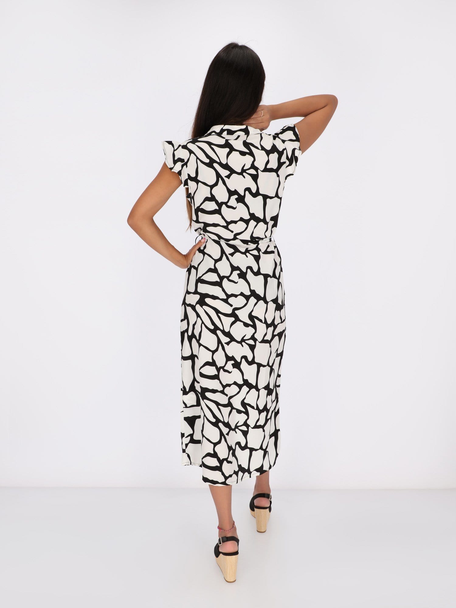 OR Dresses & Jumpsuits Monochrome Midi Dress with Monarch Butterfly Art