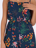 OR Dresses & Jumpsuits Estate Blue / S Floral Jumpsuit with Spaghetti Straps