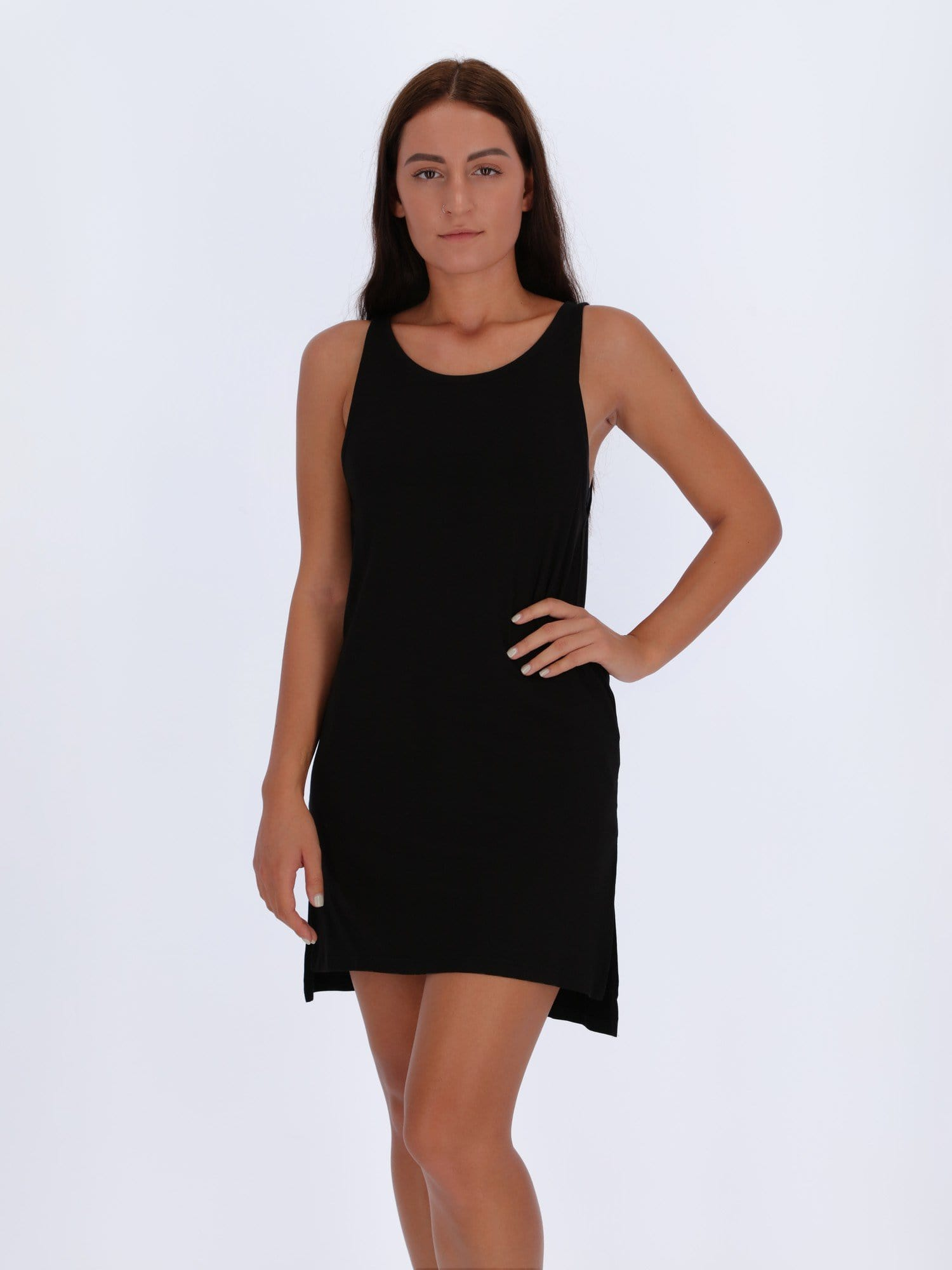 OR Tops & Blouses M / BLACK Sleeveless Top with Scoop Neck