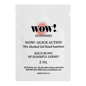 WOW! Quick Action 70% Alcohol 2 mL Gel Hand Sanitizer, 25 Packets