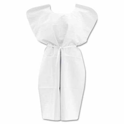 Medline Disposable Patient Gowns, 30 in. x 42 in., White, 50 Gowns