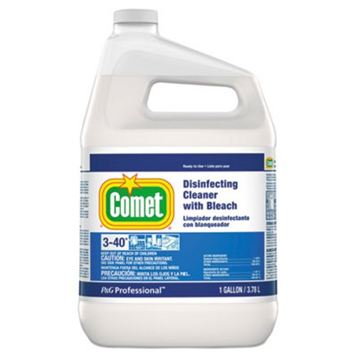 Comet Disinfecting Cleaner with Bleach, Gallon, 3 Bottles