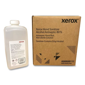 Xerox Liquid Hand Sanitizer, 80% Alcohol, 0.5 Gallon, 4 Bottles