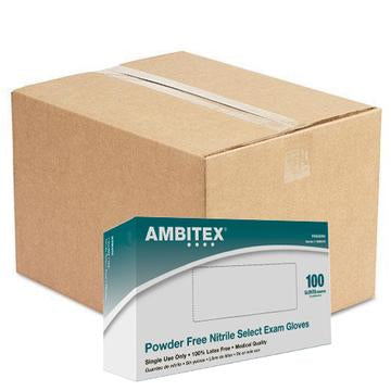 AMBITEX Nitrile Powder Free Examination Gloves - 1,000 Gloves/Case