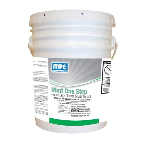 Mint ONE STEP Heavy Duty Cleaner & Disinfectant, 5 Gallon Pail