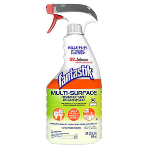 Fantastik Multi-Surface 32oz Disinfectant Spray Cleaner, 8 Bottles