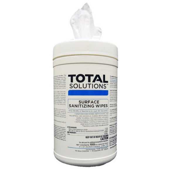 Total Solutions Surface Sanitizing Wipes (100 Wipes)