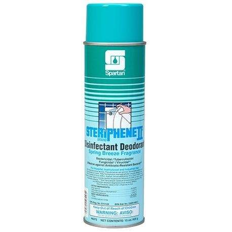 Spartan Steriphene II Brand Disinfectant Deodorant Spring Breeze Fragrance 15oz Can