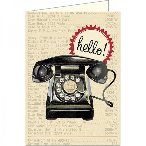 Vintage telephone - hello