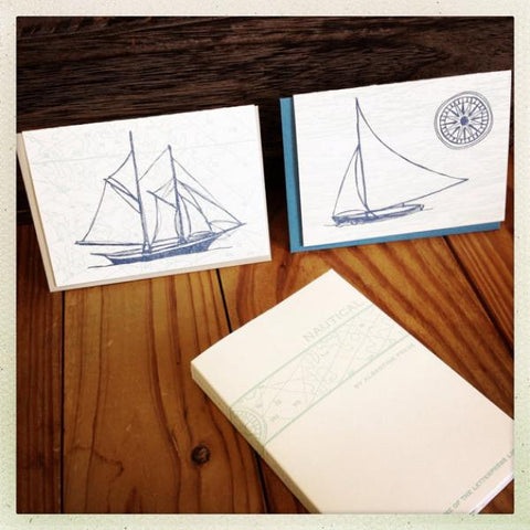 Nautical Note Set