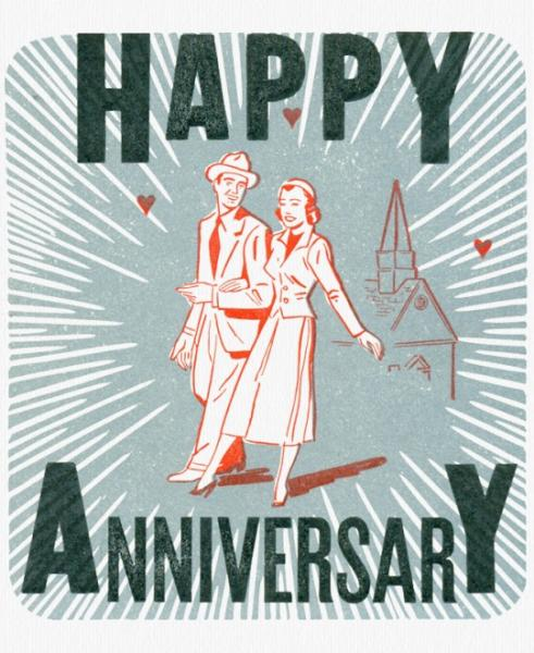 Happy Anniversary - Couple Walking