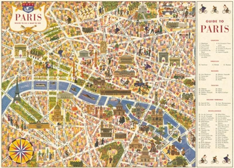 Wrap - Illustrated Paris Map