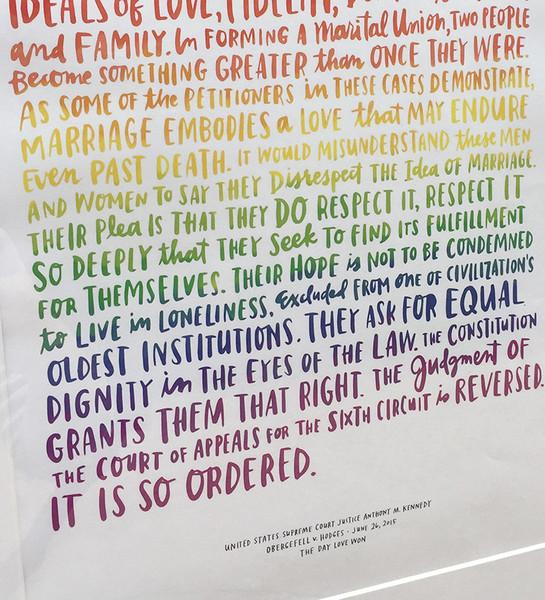Love Wins - It is So Ordered Print