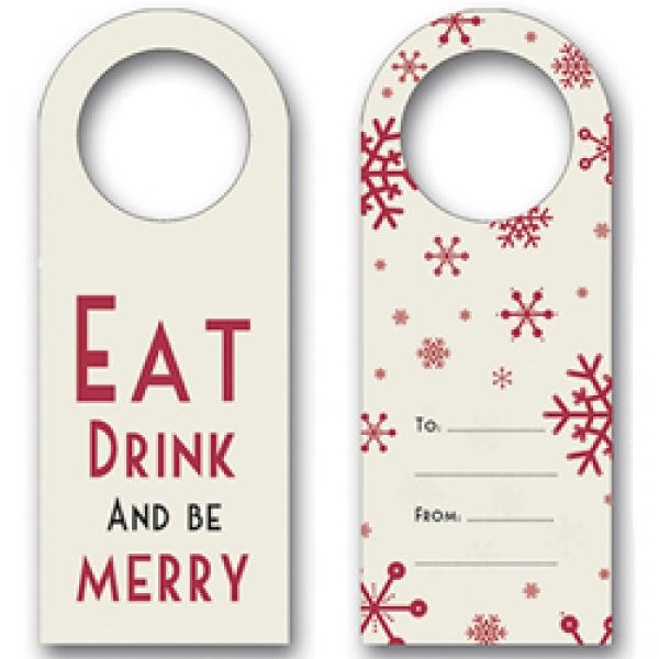 Eat, Drink, Be Merry Bottle Tags