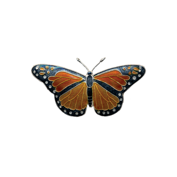 Monarch Butterfly Cloisonné Pin