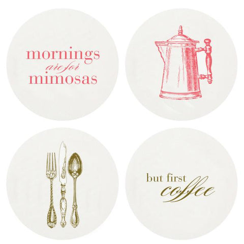 Haute Papier Letterpress Coasters - Brunch