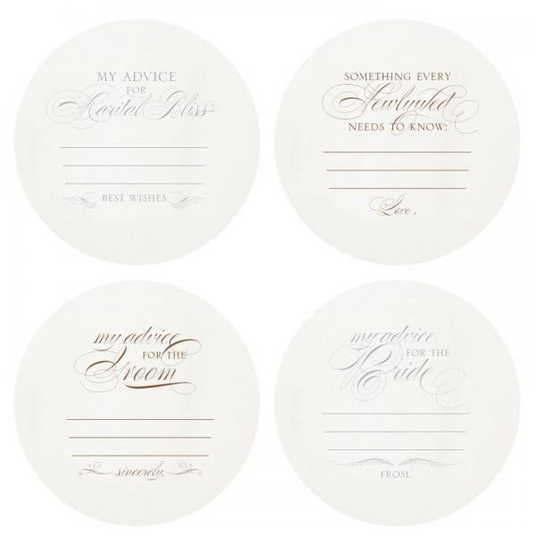 Haute Papier Gold Foil Coasters - Advice