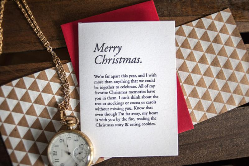 Merry Christmas Paragraph Card