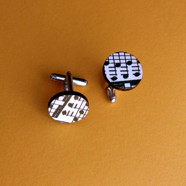 Sheet Music Cufflinks