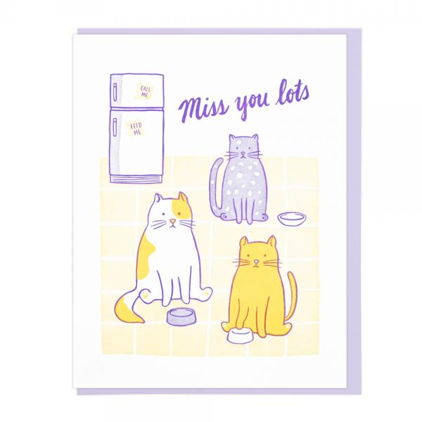 Miss You Cats Card