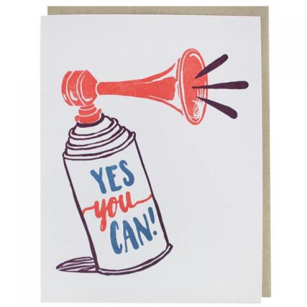 Air Horn Encouragement Card