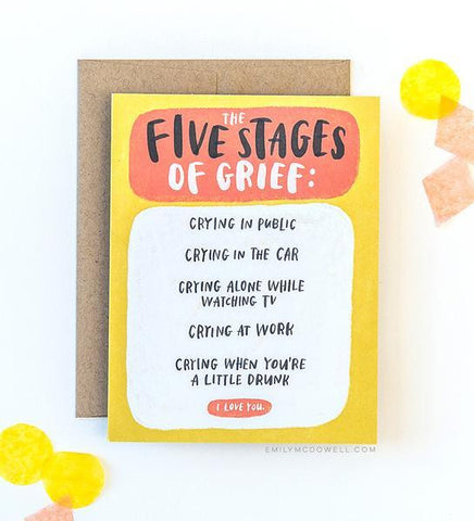 Five Stages of Grief Empathy Card