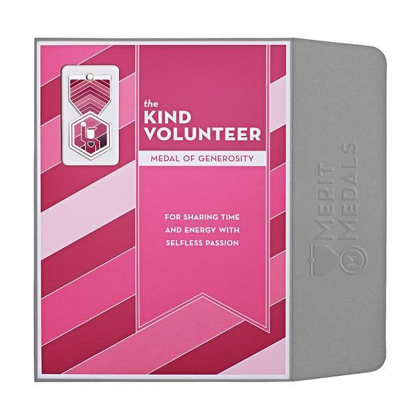 Kind Volunteer Medal Card - Front