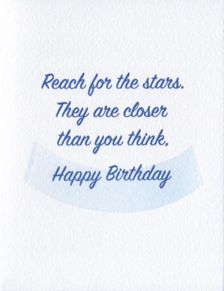 Reach for the Stars - Happy Birthday