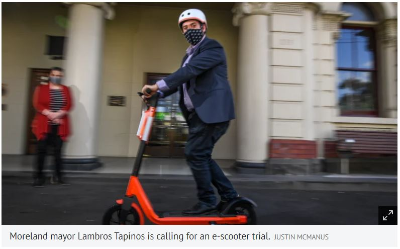 NEWS (The Age): Could e-scooters be the answer to impending COVID-19 gridlock?