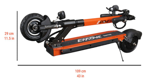 EMOVE Touring - Dimensions (folded)