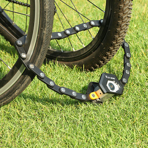 Anti-Theft WEST BIKING Foldable Lock (with Holder)