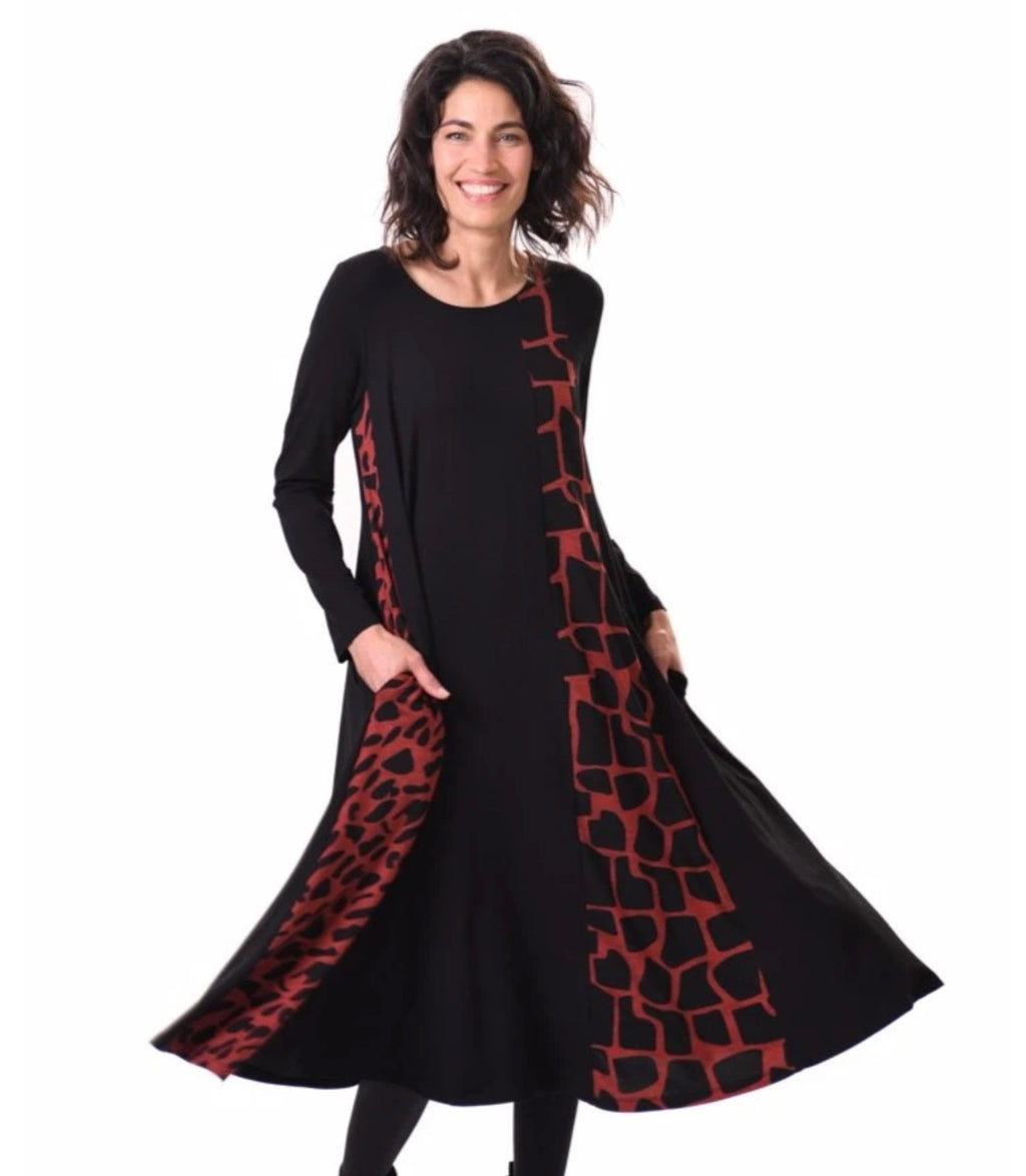 Alembika Red Leopard Swing Dress