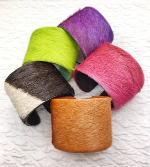 Fun Furry Leather Cuffs