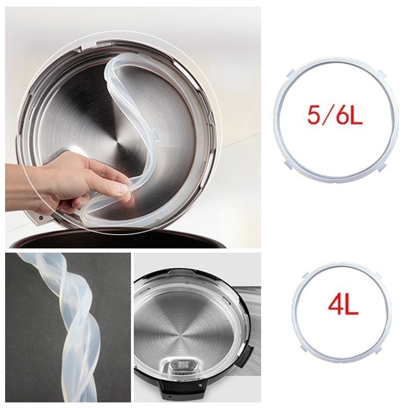 1 X Electric pressure cooker ring 1Pcs Electric Pressure Cooker Silicone Sealing Ring 4L/5-6L WW