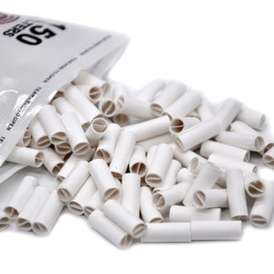 150Pcs 6MM Natural Unrefined Pre-rolled Tips Cigarette Filter Rolling Paper for Hand Rolled Cigarettes Gifts