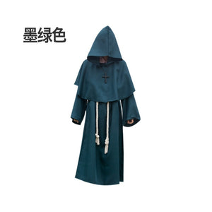 Halloween cosplay costumes, costume medieval friar robes, monk costumes wizard costumes, priest costumes,