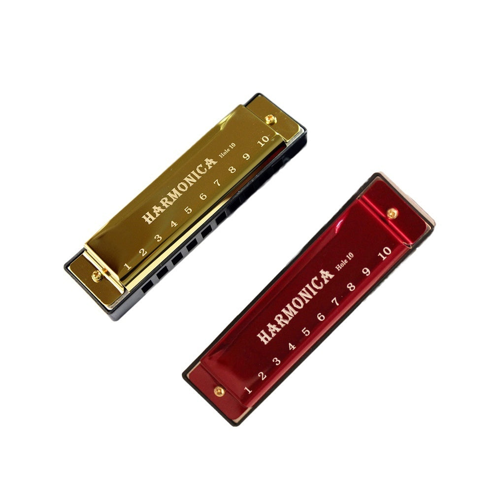 10 Holes Portable Harmonica Musical Instrument Children Early Education Mouth Organ Gift