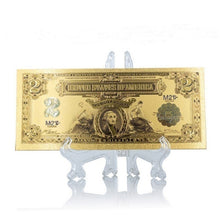 Load image into Gallery viewer, 1 PSC Gold Banknote Colored Golden Bill Crafts Collection Gift